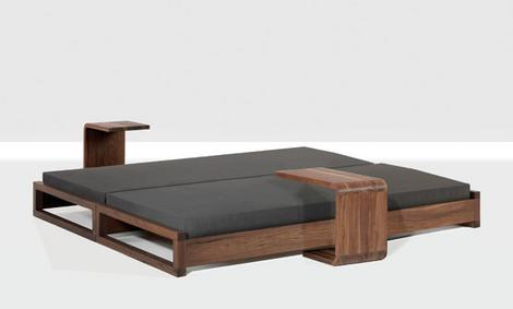 Contemporary Bed By Zeitraum New Guest Bed Is 2 Beds In 1