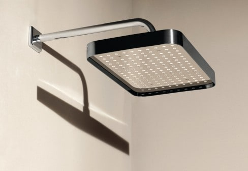 zucchetti shower head square 2 Simple Shower Head with Rim by Zucchetti