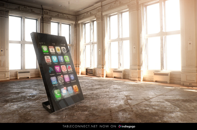 TableConnect 60 Inch Multitouch Design%20Table Standing thumb 630x416 14944 TableConnect 60 Inch Multitouch Design Table