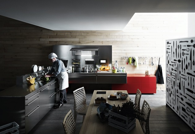 artfully innovative modern kitchen appliances valcucine 2 full view thumb 630x433 17248 Artfully Innovative Modern Kitchen Appliances From Valcucine   Artematica Inox