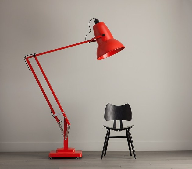 giant lamp red thumb 630x556 14890 Giant Adjustable Floor Lamp with Dimmer by Anglepoise