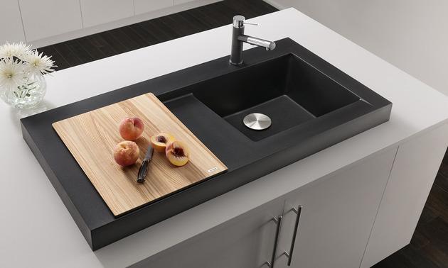 raised kitchen sink workstation dual draining modex blanco 2 chopping block thumb 630x378 19195 Raised Kitchen Sink Workstation with Dual Draining   Modex by Blanco