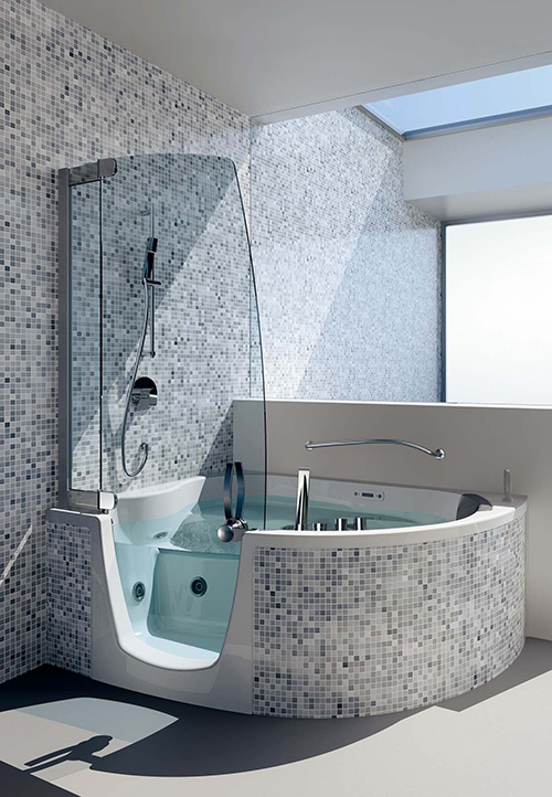 Jacuzzi Bath With Shower corner whirlpool shower comboteuco