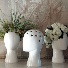 The Ceramic Wig Vase Is A Manikin Head Reinterpreted