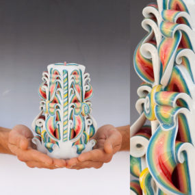 Stunning Hand Carved Candles by Natalia Burikov
