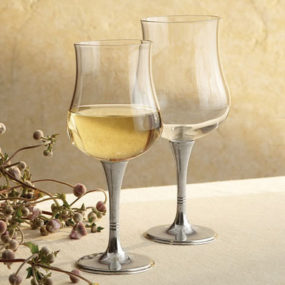 Pewter Wine Glasses from Arte Italica – Tulipani Glasses