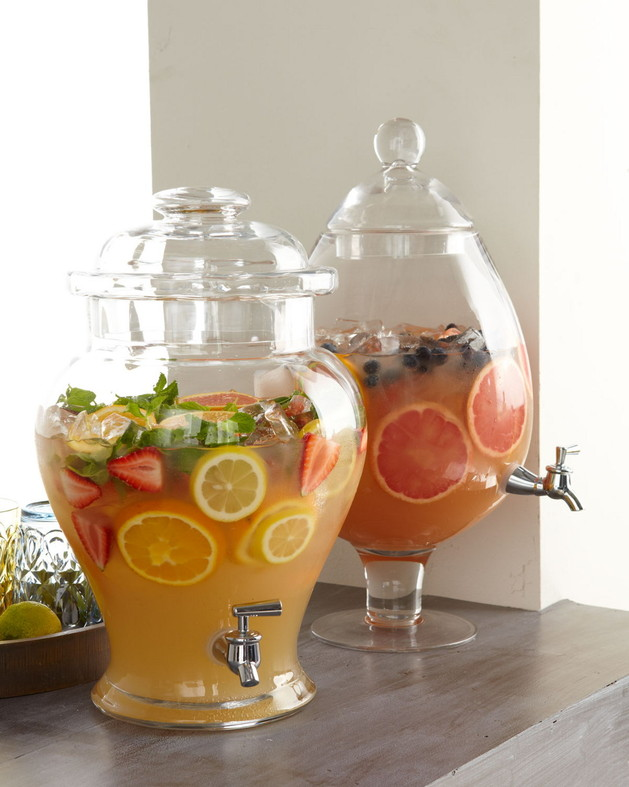 chic clear drink dispensers ginger and pear 1 thumb 630x787 8930 Cheers to these Chic Clear Drink Dispensers