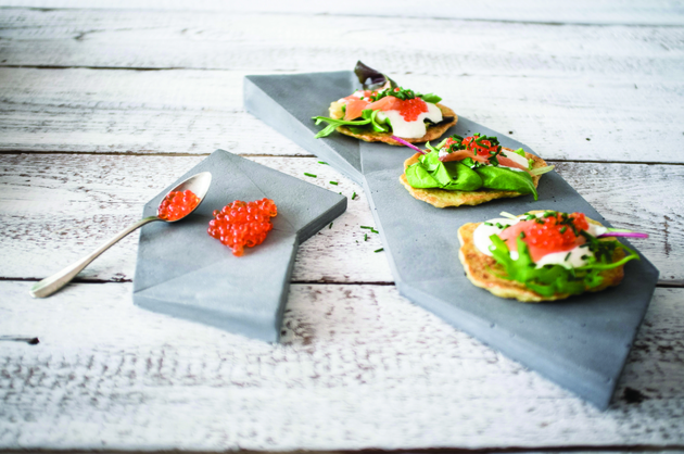 concrete tableware for tasty looking meals bruschettas thumb 630x418 15250 Concrete Tableware for Tasty Looking Meals