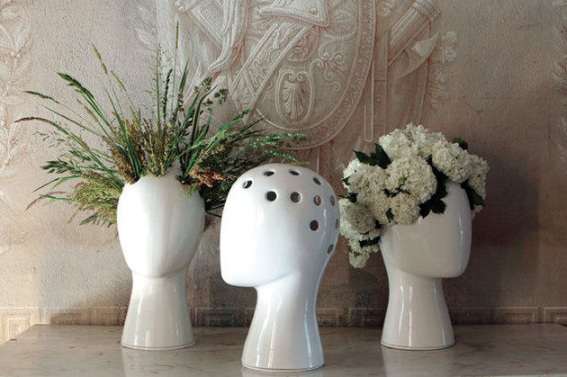 ceramic wig vase manikin head reinterpreted 1 thumb 630x419 19281 The Ceramic Wig Vase Is A Manikin Head Reinterpreted