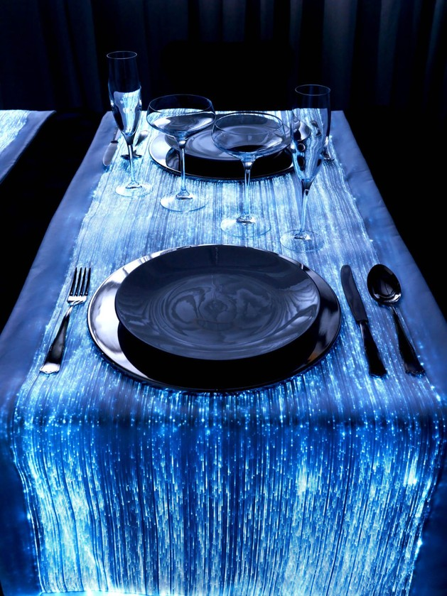 special fabrics for special atmospheres by il filo dei sogni 1 thumb 630x839 22613 Fiber Optic Table Runners for Special Atmospheres: DreamLux