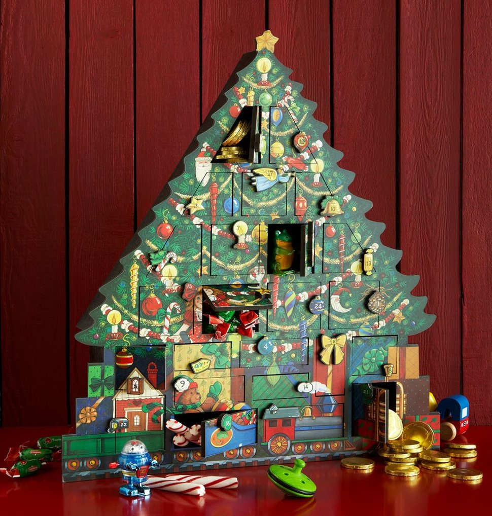 11 christmas advent calendars updated styles for a traditional favorite. Black Bedroom Furniture Sets. Home Design Ideas