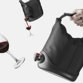 Bag In Box Wine Dispenser Gets Boxed In A Soft Bag – Baggy Winecoat by Menu