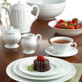 """French Limoges Porcelain Dinnerware – Bernardaud """"Louvre"""" Dinnerware"""