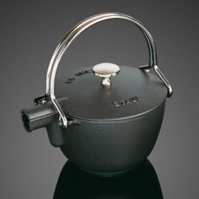 Cast Iron Teapots – Japanese style round teapot by Staub, for sale at Sur La Table