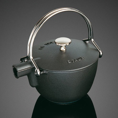 cast iron teapots japanese round staub 1 Cast Iron Teapots   Japanese style round teapot by Staub, for sale at Sur La Table