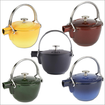 cast iron teapots japanese round staub 2 Cast Iron Teapots   Japanese style round teapot by Staub, for sale at Sur La Table