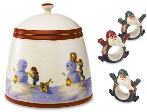 christmas nordic elf cookie jar rings
