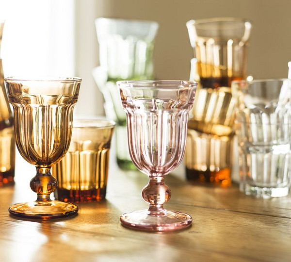 colorful cafe glassware by pottery barn 2 Colorful Cafe Glassware by Pottery Barn: retro style goblets and tumblers