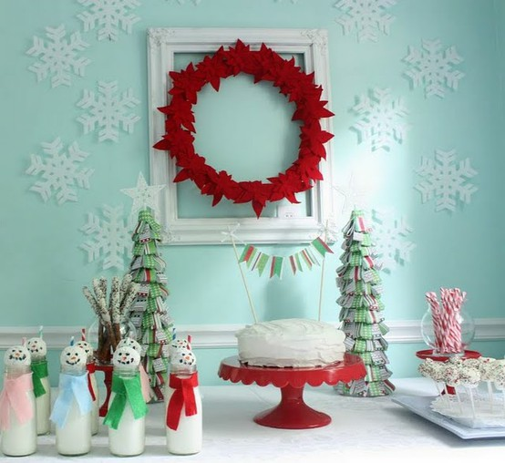 view in gallery colorful christmas tabletop decor ideas 17jpg - Teal And Red Christmas Decorations