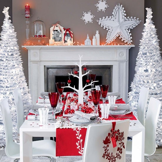 View In Gallery Colorful Christmas Tabletop Decor Ideas 2 Colorful  Christmas Tabletop Decor Ideas: White, Red,