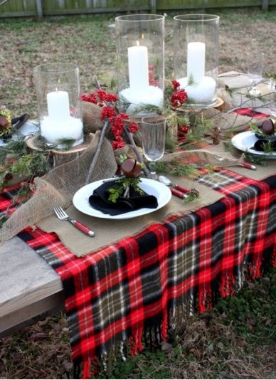 colorful christmas tabletop decor ideas 7
