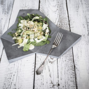 Concrete Tableware for Tasty Looking Meals