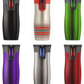 Push Button Travel Mug – West Loop Autoseal Mugs by Contigo (Vacuum Insulated)