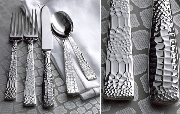 crocodile flatware neiman marcus 1 Crocodile Flatware by Ricci Argentieri from Neiman Marcus