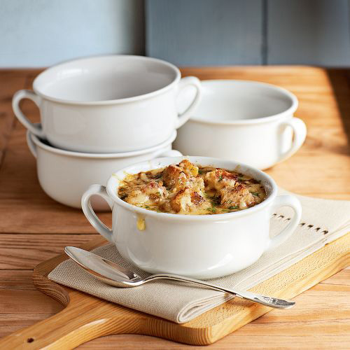 double handled soup bowl williams sonoma Large Double Handled Soup Bowl   new bowls and Mushroom Soup Recipe from Williams Sonoma