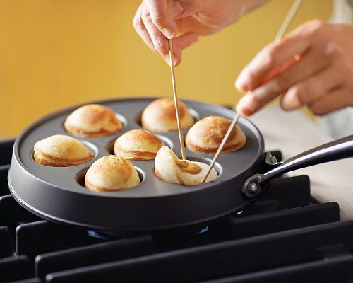 ebelskiver filled pancake pan 1 Ebelskiver Filled Pancake Pan and Recipes from Nordic Ware