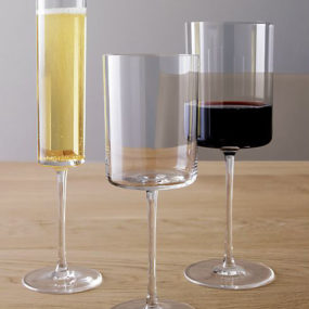 Edge Wine Glasses by Crate&Barrel