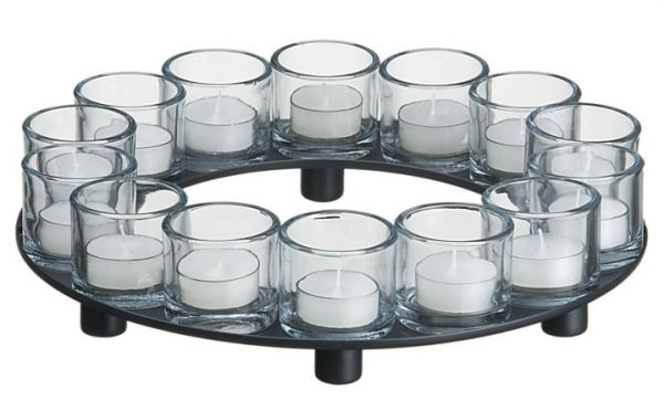 encore candleholder centerpiece round Encore Candle Holder Centerpiece | Tealight Candleholders by Crate & Barrel   create your own design!
