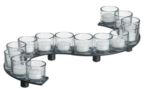 encore candleholder centerpiece snake Encore Candle Holder Centerpiece | Tealight Candleholders by Crate & Barrel   create your own design!