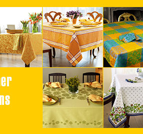 Fine Table Linens for Summer – linen tablecloth selections by designer Lillian Pikus