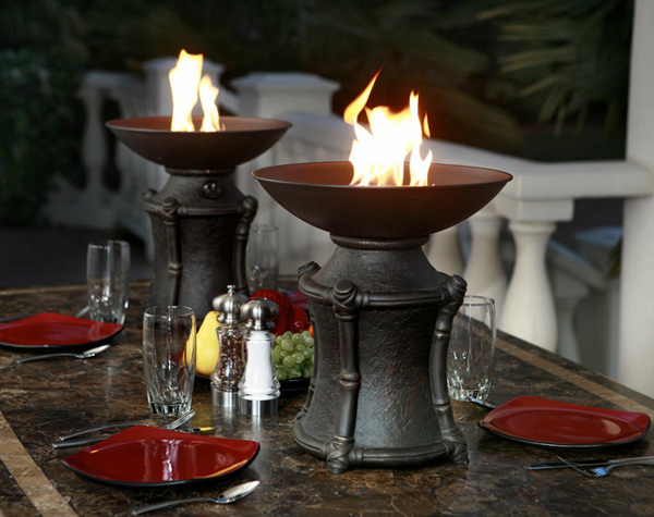 Fire Urns By Agio Outdoor Dining Centerpiece Ideas