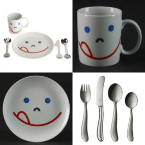 Kids Dinnerware Set Mono makes your children smile