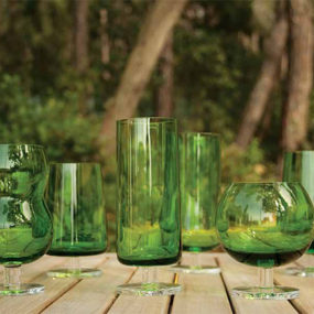 Green Drinkware Glasses by Ilio Glass – Forest