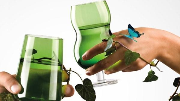 green drinkware glasses ilio glass forest 2 Green Drinkware Glasses by Ilio Glass   Forest