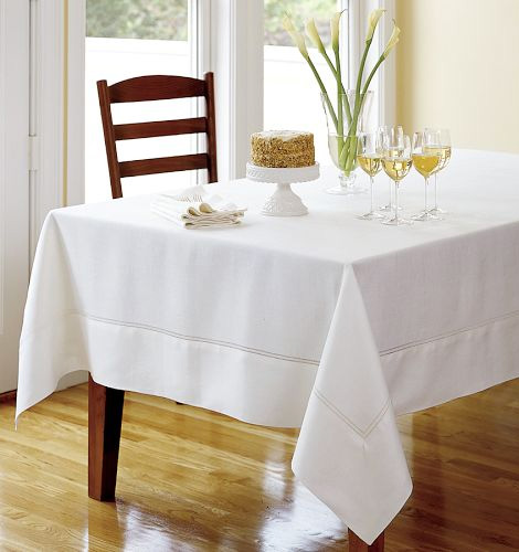 Hemstitched Linen Tablecloths White Fine Table Linens For Summer Linen  Tablecloth Selections By Designer Lillian Pikus