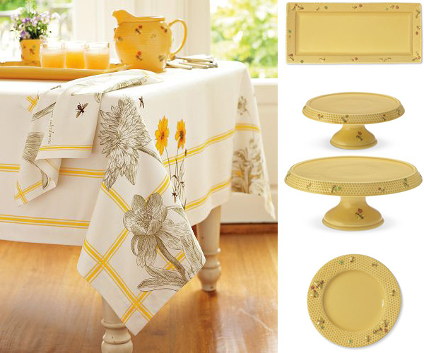 View In Gallery Honey Bee Tablecloth Williams Sonoma