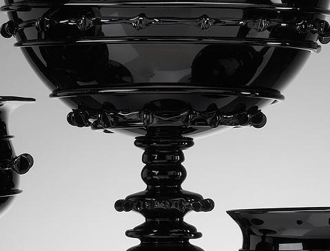 juliska black glass tableware 1