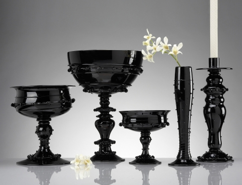 juliska black glass tableware Black Glass Tableware & Centerpieces   gorgeous, glamorous collection by Juliska!