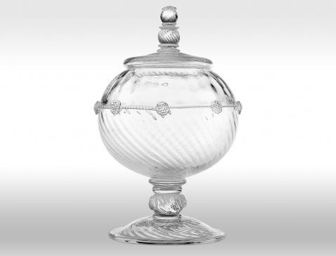 juliska covered urns 1 Stunning Glass Candy Jars   Covered Urns by Juliska