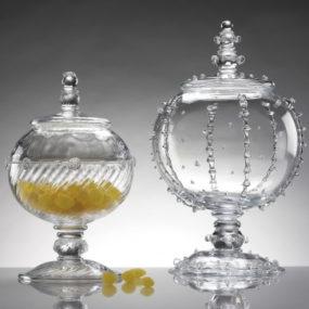 Stunning Glass Candy Jars – Covered Urns by Juliska