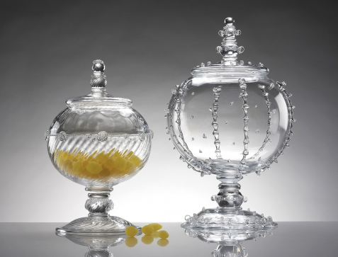 juliska covered urns Stunning Glass Candy Jars   Covered Urns by Juliska
