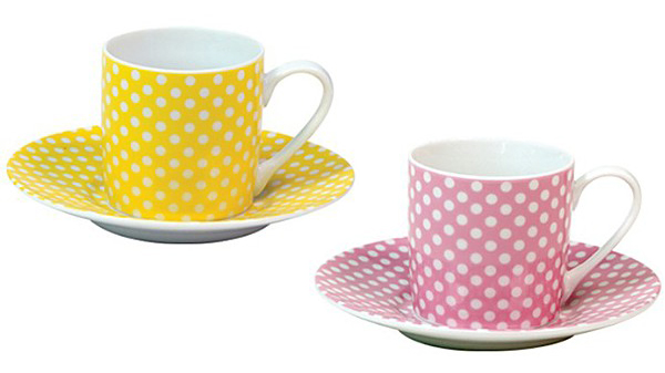 konitz polk dot cup Polka Dot Espresso Cup by Konitz   dot pattern cups and saucers