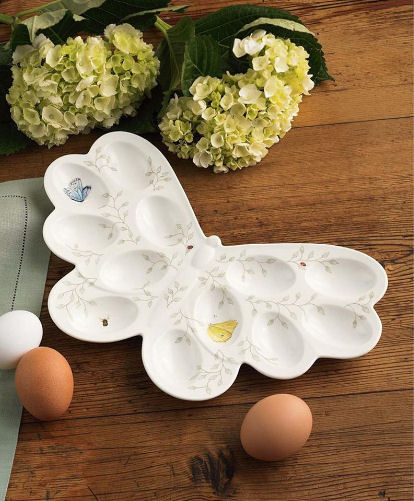 lenox butterfly meadow egg plate