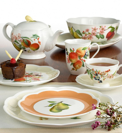 lenox orchard in bloom dinnerware collection Fruit Pattern Dinnerware   new Lenox Orchard in Bloom Dinnerware at Macys