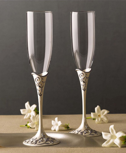 lenox silver flutes Silver Flutes from Lenox   Opal Innocence Silver Plated Flute Pair
