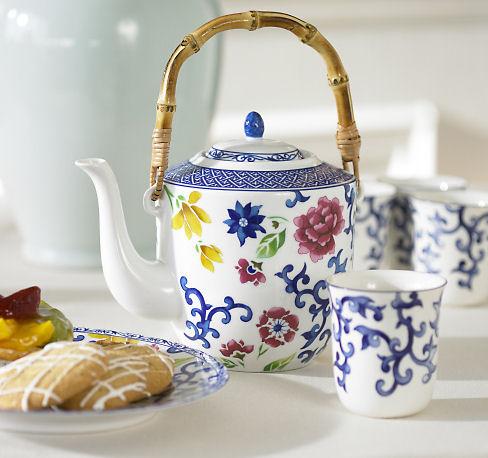 mandarin five piece tea set Dessert Serving Sets from Ralph Lauren   Mandarin Design